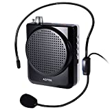 AGPTek KY03 Portable Voice Amplifier, with Adjustable Waist/Neck Band&Comfortable MIcrophone Headset, for Coaches, Teachers, Tour Guides, Black