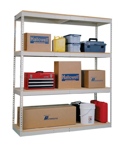 - Hallowell DRHC481884-4A Rivetwell Double Rivet Boltless Shelving, 48