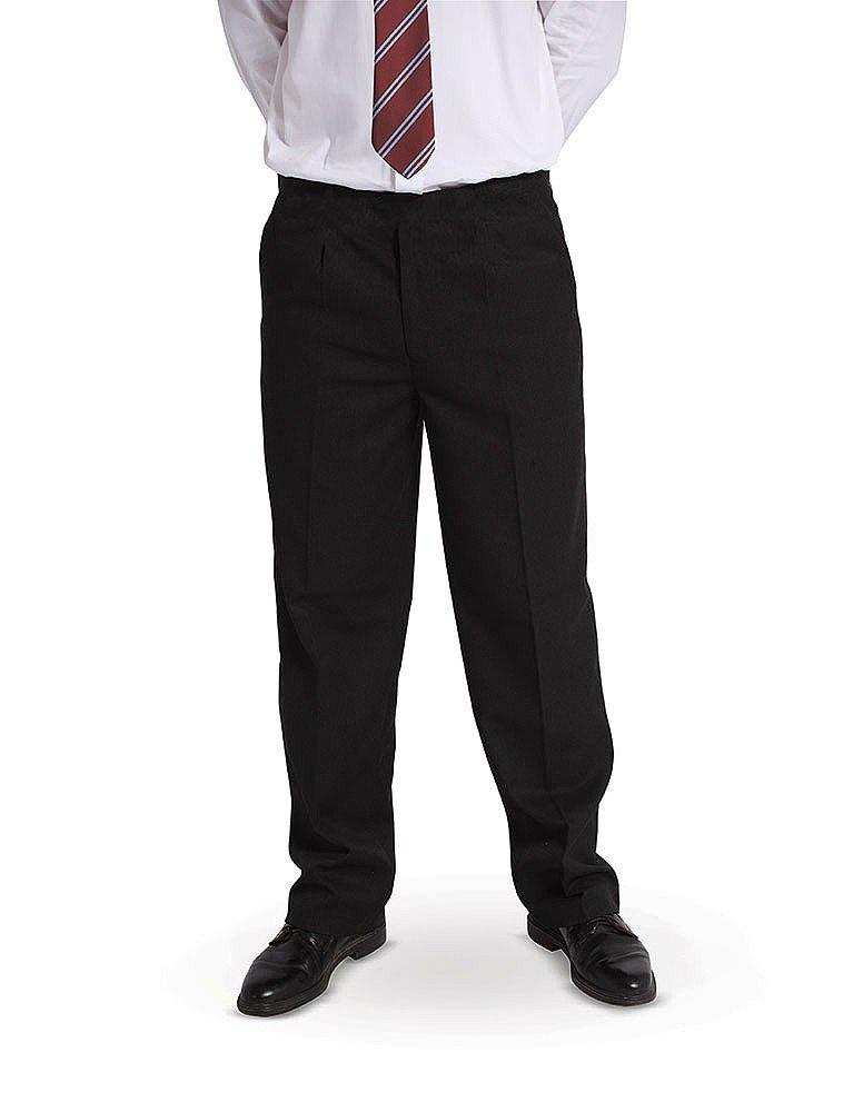 Dalsa New Boys Sturdy Stocky Fit Plus Size School Trousers Grey Black Generous fit Sizes Regular//Standard Leg