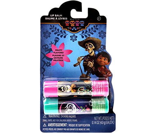 Price comparison product image Mozlly Disney Pixar Coco Lip Balm Set - Pink Strawberry and Green Watermelon Flavors - Chapstick - Extra Moisturizing - Novelty Character Cosmetics (2pc Set)