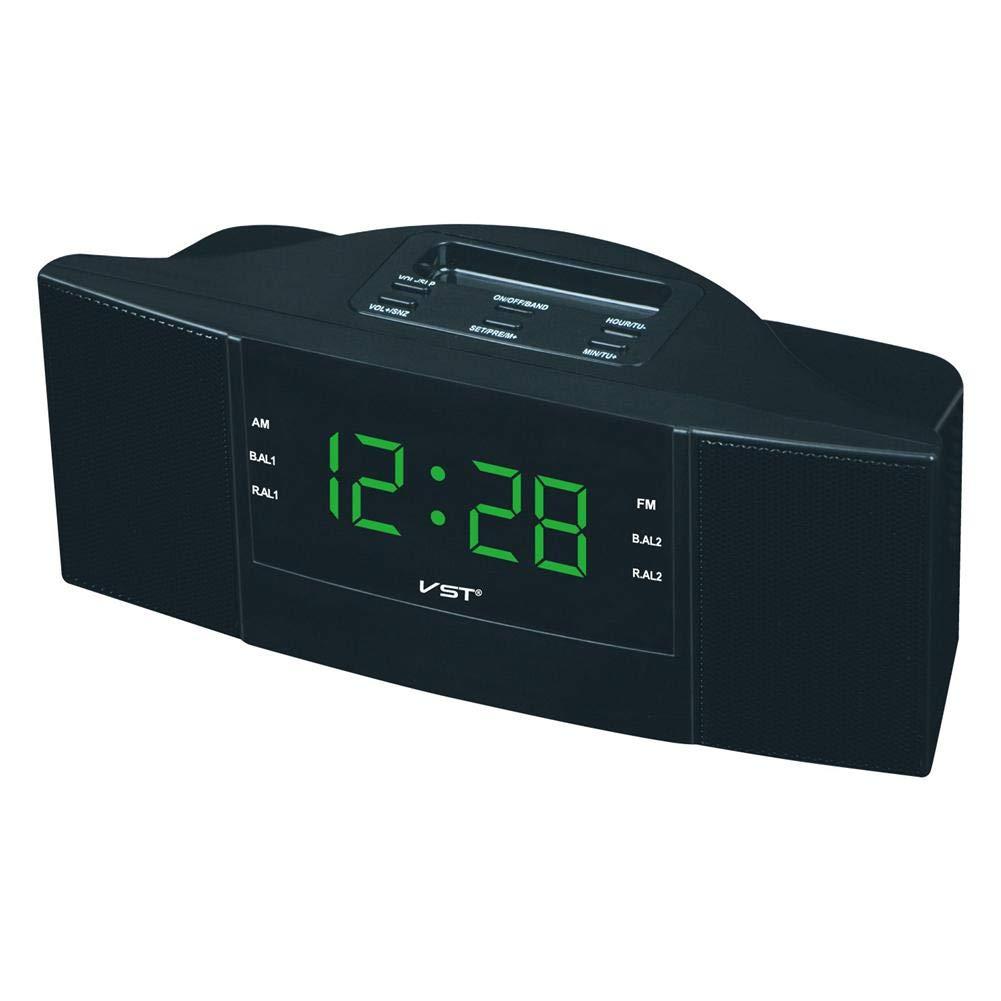 AM/FM Digital Alarm Clock Radio Clock with AM FM Dual Band Channel Radio LED Clock Digital Radio Gift