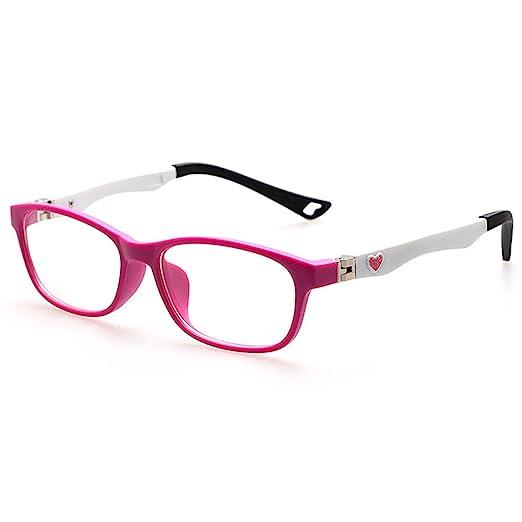 64bfdf5ec95 Amazon.com  Fantia TR90 Optical Frame Glasses Cute Kids Eyeglasses ...