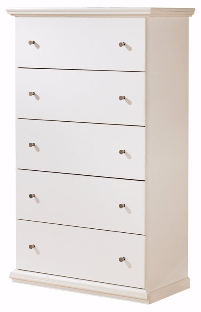 Ashley Furniture Signature Design - Bostwick Shoals Chest of Drawers - 5 Drawers - Vintage Casual Cottage Design - White by Signature Design by Ashley