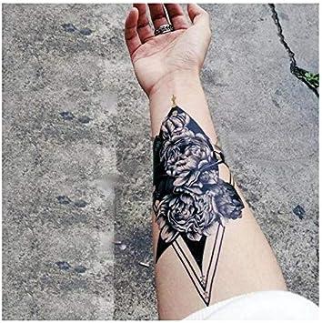 Tatouages Temporaire Rose Triangle Geometrique Pour Homme Et Femme Tatouage Ephemere Avant Bras Jambe Mollet Bras Nuque 19 X 10 Cm Amazon Fr Beaute Et Parfum