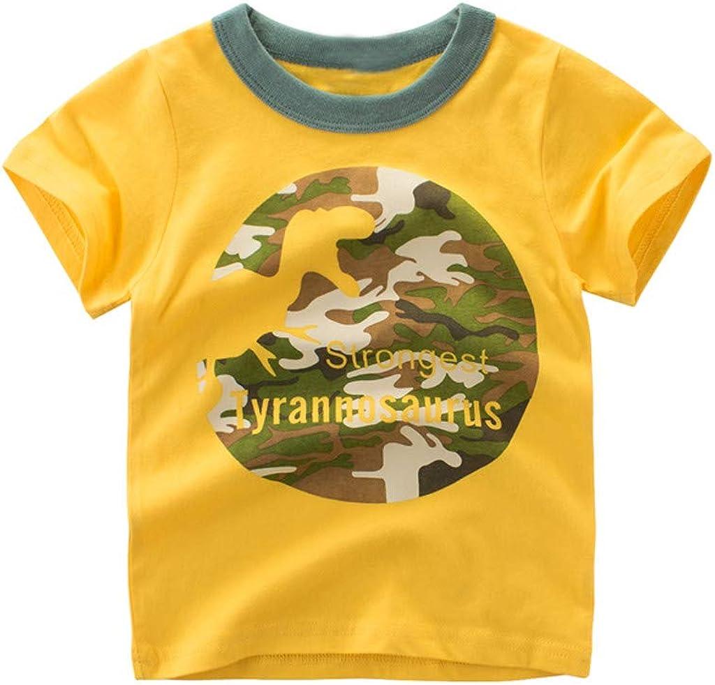 Tops niña   Toddler Kids Baby Boys Cartoon Dinosaur T Camiseta Tops de Manga Corta 1PCS Trajes 12 Meses - 7 años: Amazon.es: Ropa y accesorios