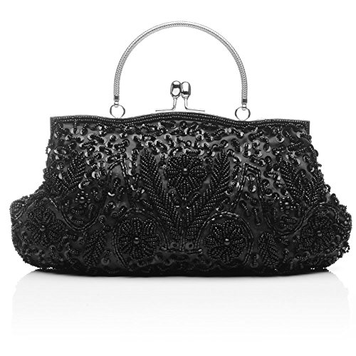 Bag Handbag Tote Women Clutch Sequins Evening Sallyshiny Party Bags Beads Black Prom Glitter w0pxAqH