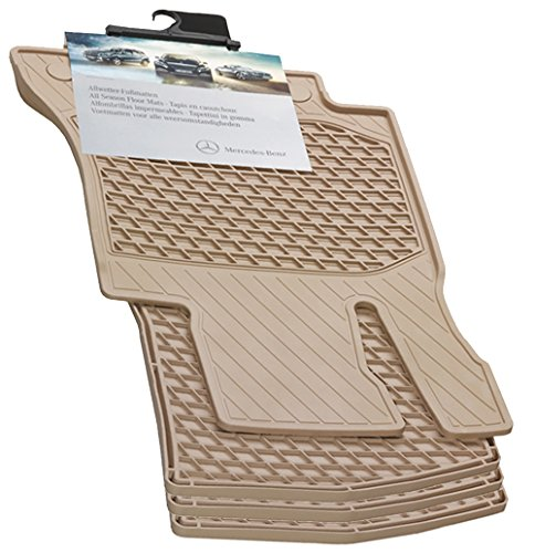 Mercedes-Benz OEM All Weather Season Floor Mats 2014 to 2019 S-Class 4 Door Sedan (Set of 4) (Color:Beige) S550 S450 S560 S600 S63 S65