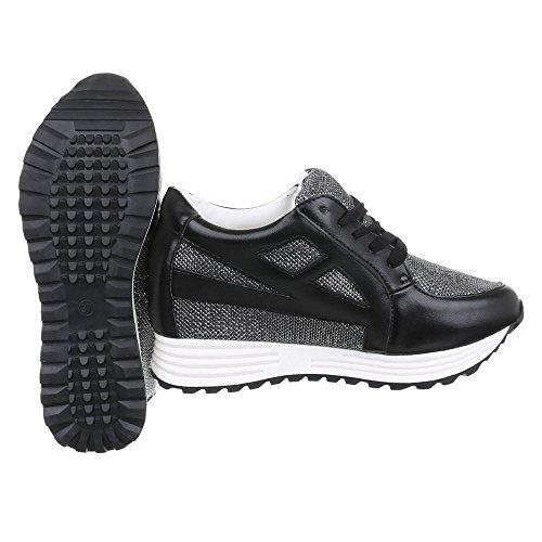 Ital-Design - Zapatillas de casa Mujer, color negro, talla 39