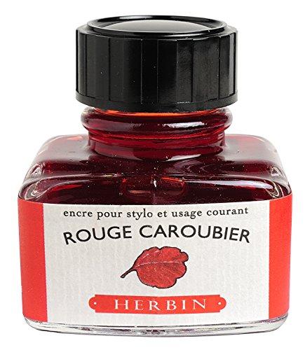 J. Herbin Fountain Pen Ink - 30 ml Bottled - Rouge Caroubier