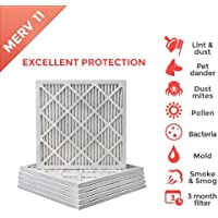 14x14x1 MERV 11 ( MPR 1000 ) Air Filters for AC and Furnace - 6 Pack