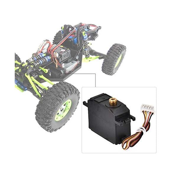 Drfeify Servo in Metallo per Auto RC,Servo in Metallo con Accessori Installazione per Wltoys 12428 12423 RC Auto 4 spesavip