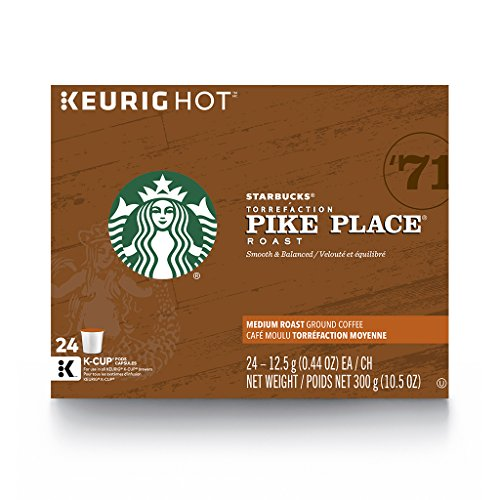 Starbucks Pike Place Medium Roast Single Cup Coffee for Keurig Brewers, 4 Boxes of 24 (96 Total K-Cup - Outlet Stores Seattle In