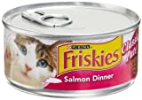 Friskies Cat Food Classic Pate, Salmon Dinner, 5.5-Ounce Cans (Pack of 24), My Pet Supplies