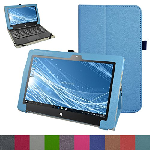 "Insignia Flex 11.6 NS-P11W6100 Case,Mama Mouth PU Leather Folio 2-folding Stand Cover for 11.6"" Insignia Flex 11.6 NS-P11W6100 Windows 10 Tablet,Light Blue"