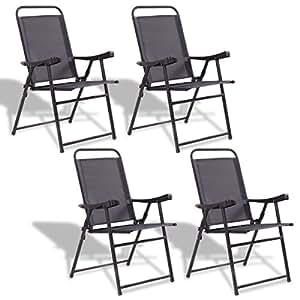 Amazon.com: NanaPluz - 4 sillas plegables para patio con ...
