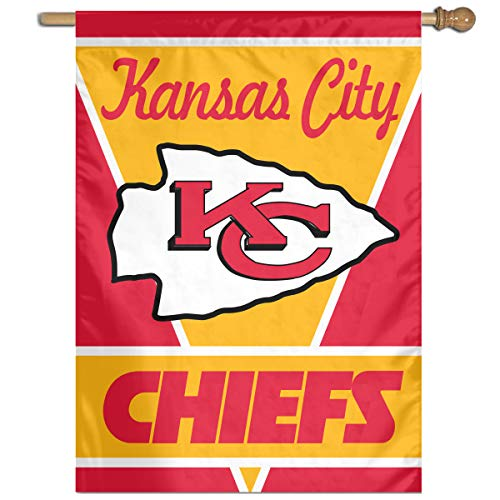 Sorcerer Custom Colorful Wall Flag American Football Team Kansas City Chiefs Outdoor House Yard Garden Flag Polyester Indoor Banner for Wedding Party Decor 27x37 Inch