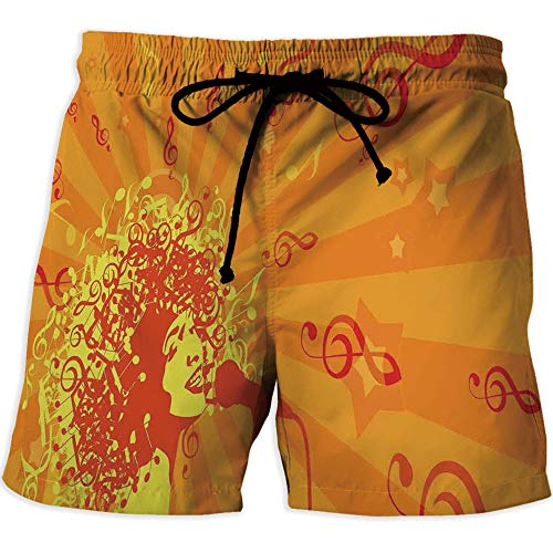 CarySeans Men's Running Shorts Quick Dry Gym Training Shorts with Pockets,Abstra