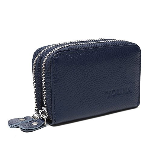 Credit Card Wallet,YOUNA Rfid Blocking Genuine Leather Credit Card Holder for Women