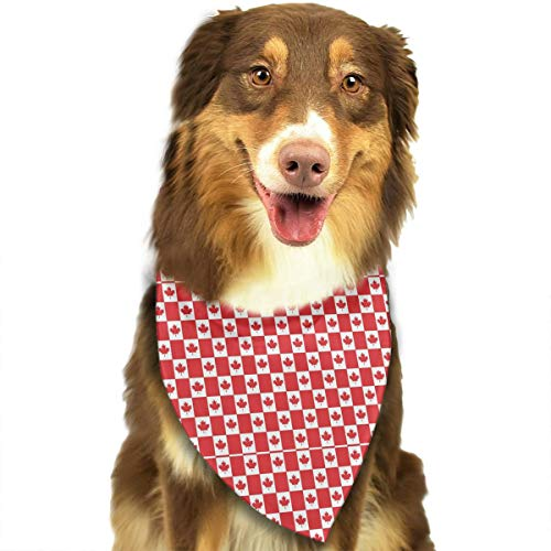 - Red Petro-Canada Flag Pet Bandana Washable Reversible Triangle Bibs Scarf - Kerchief for Small/Medium/Large Dogs & Cats