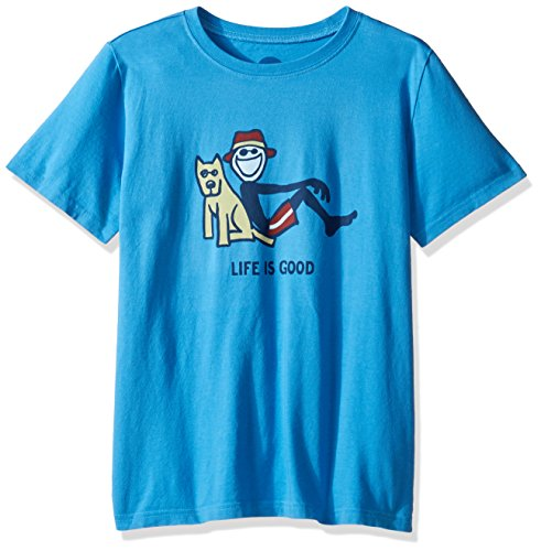 Life is good Boys Lean On Me Tee, Marina Blue, X-Large
