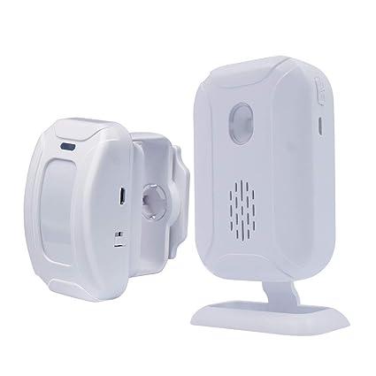 Detector de Movimiento PIR inalámbrico, Alarma de Seguridad ...