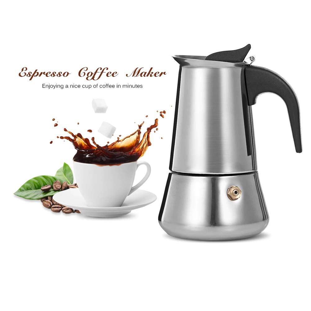 Amazon.com: Coffee Makers Italian Top Moka Espresso Cafeteira Expresso Percolator 300 ML Stovetop Coffee Maker Homeleader: Kitchen & Dining