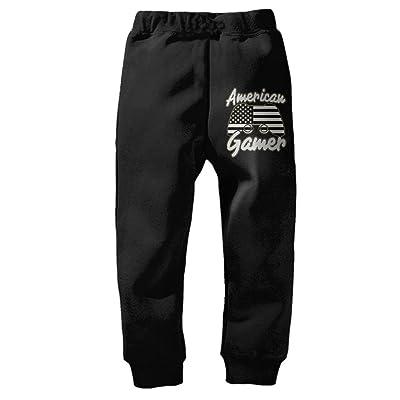 American Gamer American Flag Unisex Kids Sweatpant Cotton Trousers Jogging Pant Jogger Pants