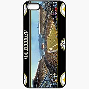 Personalized iPhone 5 5S Cell phone Case/Cover Skin 984 pittsburgh steelers Black