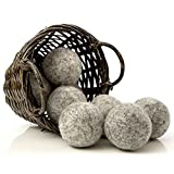 Dark Wool Dryer Balls (Set of 8) - Made For Drying Colors/Darks - Natural Fabric Softener - Ecofriendly & Organic - Reusable Dryer Sheets for Infants