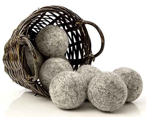 Pitch-dark Wool Dryer Balls, 8-Pack — Made For Drying Colors/Darks — Natural Fabric Softener — Ecofriendly & Structural — Reusable Dryer Sheets for Infants