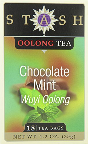 Stash Tea Chocolate Mint Wuyi Oolong Tea 18 Count Tea Bags in Foil (Pack of 6) Individual Black Tea Bags for Use in Teapots Mugs or Cups, Brew Hot Tea or Iced Tea, Fair Trade Certified by Stash Tea