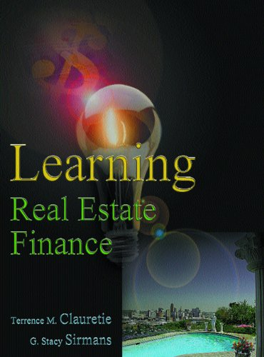 Learning Real Estate Finance
