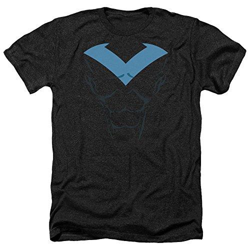 Batman DC Comics Nightwing Costume Superhero Adult Heather T-Shirt Tee