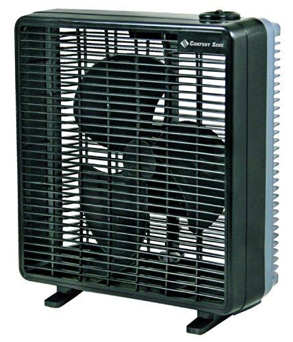 Buy Bargain Comfort Zone CZ10B - 10 Portable Box Fan, Black