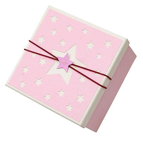 Caja de Regalo de San Valentín Cuadrado Caja de Fiesta de cumpleaños Rosa de Five-