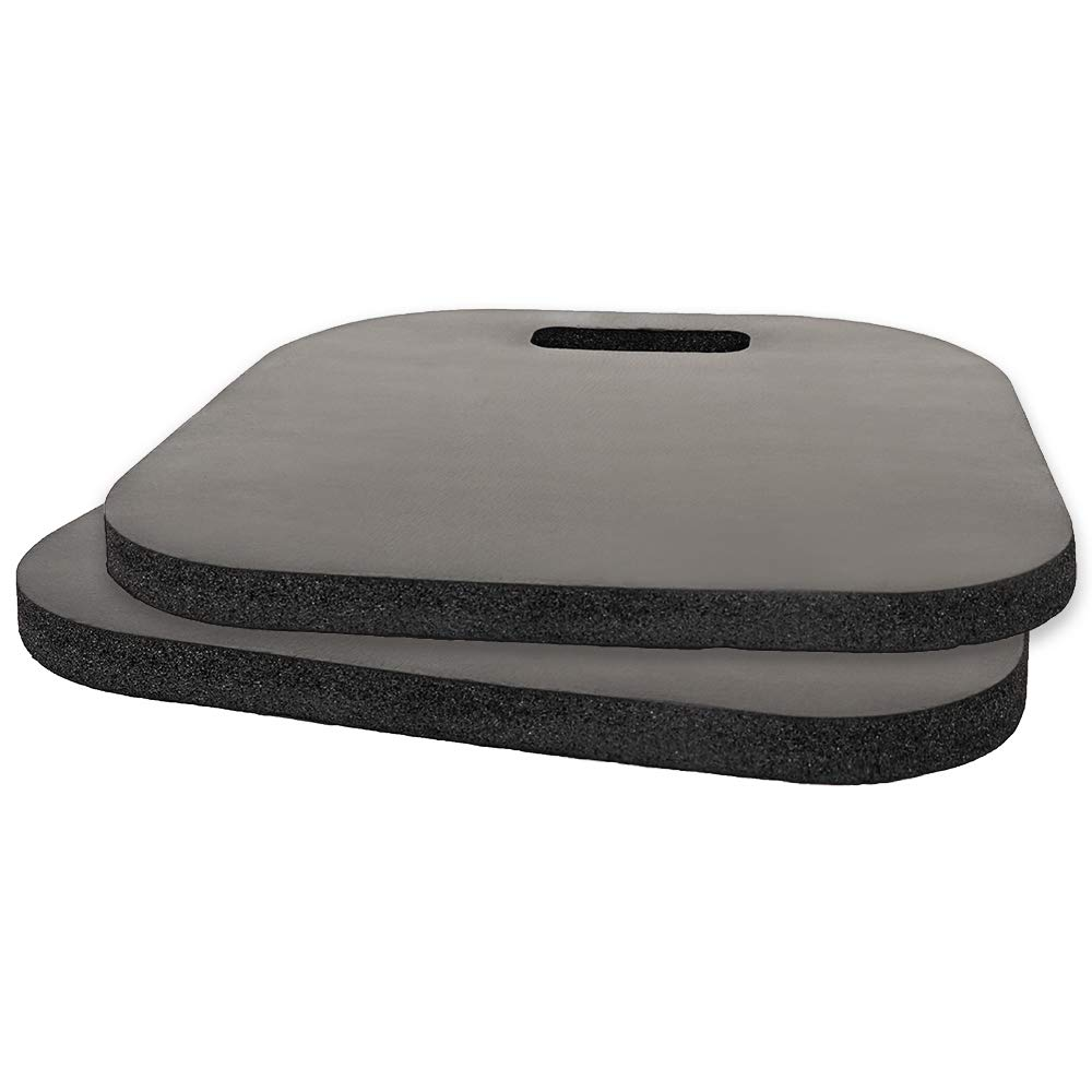 2 Pack Memory Foam Luxury Seat Cushion Sporting Event Seat Pad with Carry Handle for Boat Stadiums Bleachers Chairs Seat Skyoo