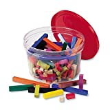 Learning Resources Cuisenaire Rods Small Group Set: 155 Piece Plastic Set