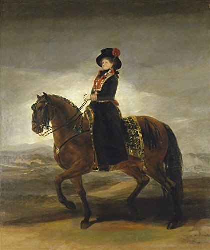 Costume Korean Sketch National (Perfect Effect Canvas ,the Imitations Art DecorativeCanvas Prints Of Oil Painting 'Goya Y Lucientes Francisco De Queen Maria Luisa On Horseback 1799 ', 24 X 29 Inch / 61 X)