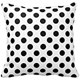 B Lyster shop Black White Polka Dot Cotton & Polyester Soft Zippered Cushion Throw Case Pillow Case Cover