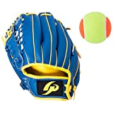 GP Left-handed Baseball Glove Magic Catch For Juniors 9 inch with a Tennis Ball