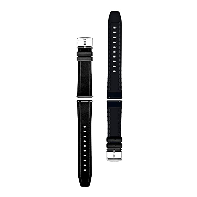Anmino Watch Strap 22mm, Quick Release Leather and Silicone Double-Sided Material Strap, Replacement Watch Band for Men Women