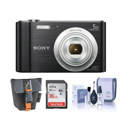 Sony Cyber-shot DSC-W800 Digital Camera, 20.1MP - Bundle Wit