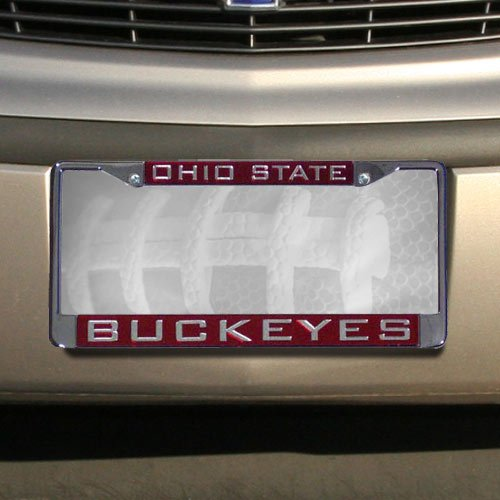 Ohio State Buckeyes Chrome License Plate Frame- -- (State Chrome Frame College)