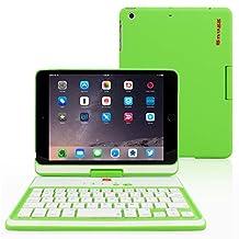 iPad Mini 1, iPad Mini 2 and iPad Mini 3 Keyboard, Snugg [Green] Wireless Bluetooth Keyboard Case Cover [Lifetime Guarantee] 360° degree Rotatable Keyboard for Apple iPad Mini 1, iPad Mini 2 and iPad Mini 3