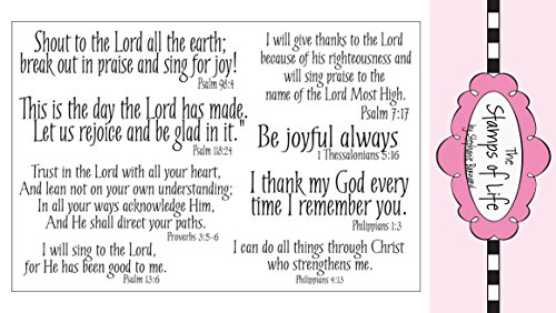 The Stamps of Life Praise4Him Christian Stamps for Card-Making and for Scrapbooking by Stephanie Barnard - Phrases Sentiments and Scriptures