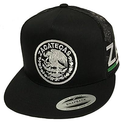 Zacatecas Logo Federal 2 Logos Hat Black Mesh Snapback