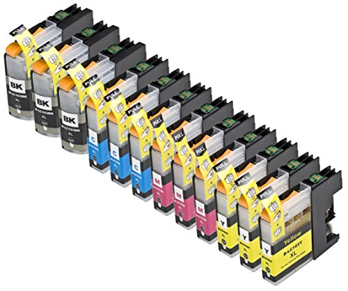 12 Pack Compatible with Brother LC101 , LC103 3 Black, 3 Cyan, 3 Magenta, 3 Yellow for use with Brother DCP-J152W, MFC-J245, MFC-J285DW, MFC-J4310DW, MFC-J4410DW, MFC-J450DW, MFC-J4510DW, MFC-J4610DW, MFC-J470DW, MFC-J4710DW, MFC-J475DW, MFC-J650DW, MFC-J