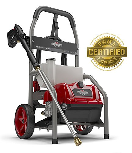 (Briggs & Stratton 20680 Electric Pressure Washer 1800 PSI 1.2 GPM with 20-Foot High Pressure Hose, Turbo Nozzle & Detergent Tank)