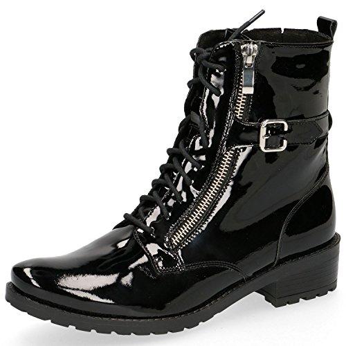 Caprice Women's 25100 Combat Boots Black (Black Patent 18) YCqoo