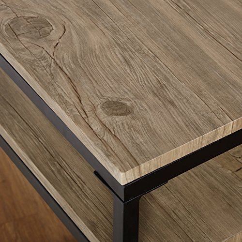 Target Marketing Systems Piazza Collection Modern Reclaimed Sleek End Table With Open Shelf, Wood/Metal by Target Marketing Systems (Image #3)